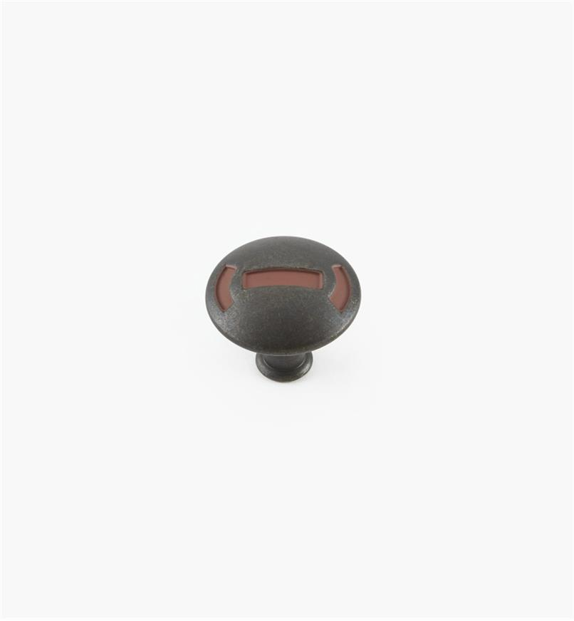 "02W1921 - 1 1/4"" x 1 1/8"" Rusted Iron Knob"