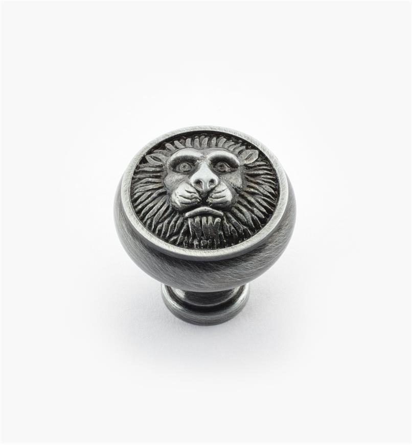 "02W2101 - 1 3/16"" x 1 1/4"" Antique Pewter Knob"