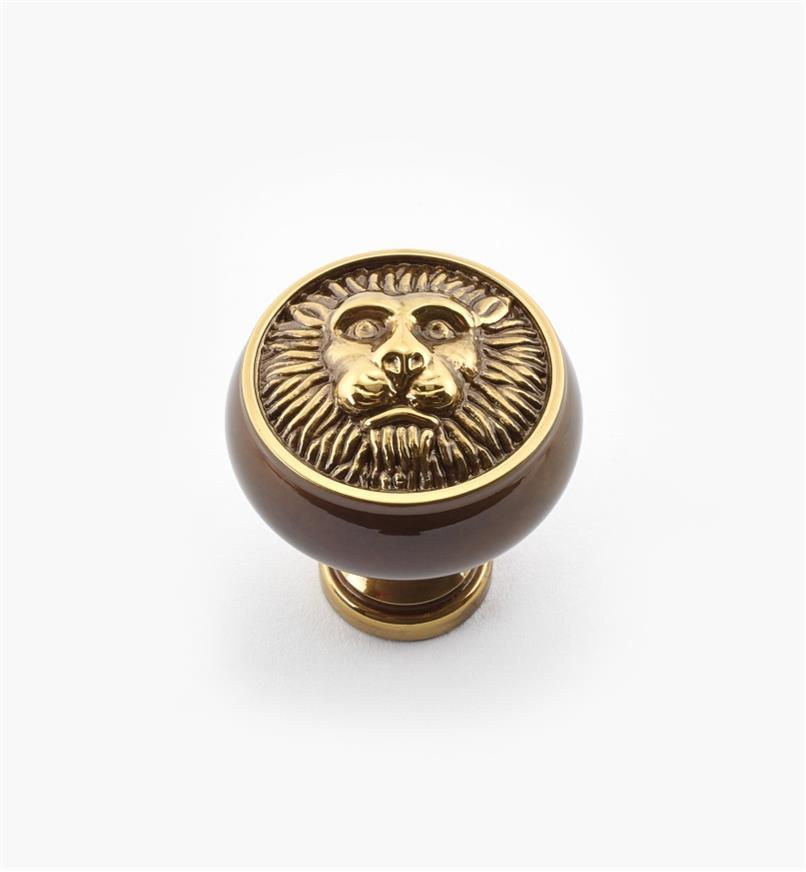 """02W2161 - 1 3/16"""" x 1 1/4"""" Antique Brass Knob"""