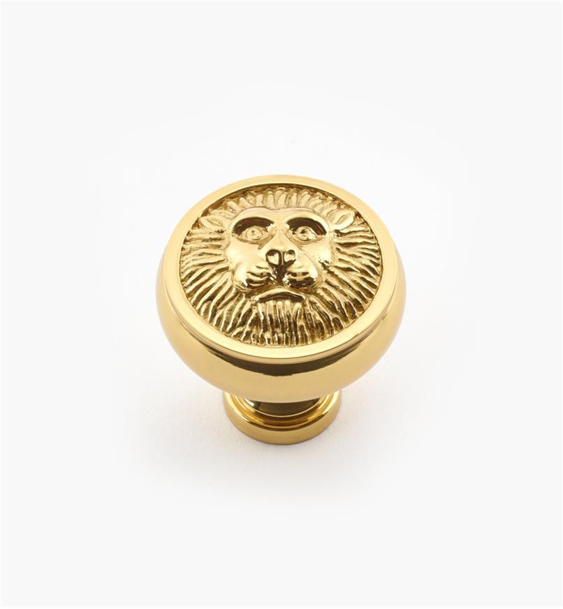 """02W2181 - 1 3/16"""" x 1 1/4"""" Polished Brass Knob"""