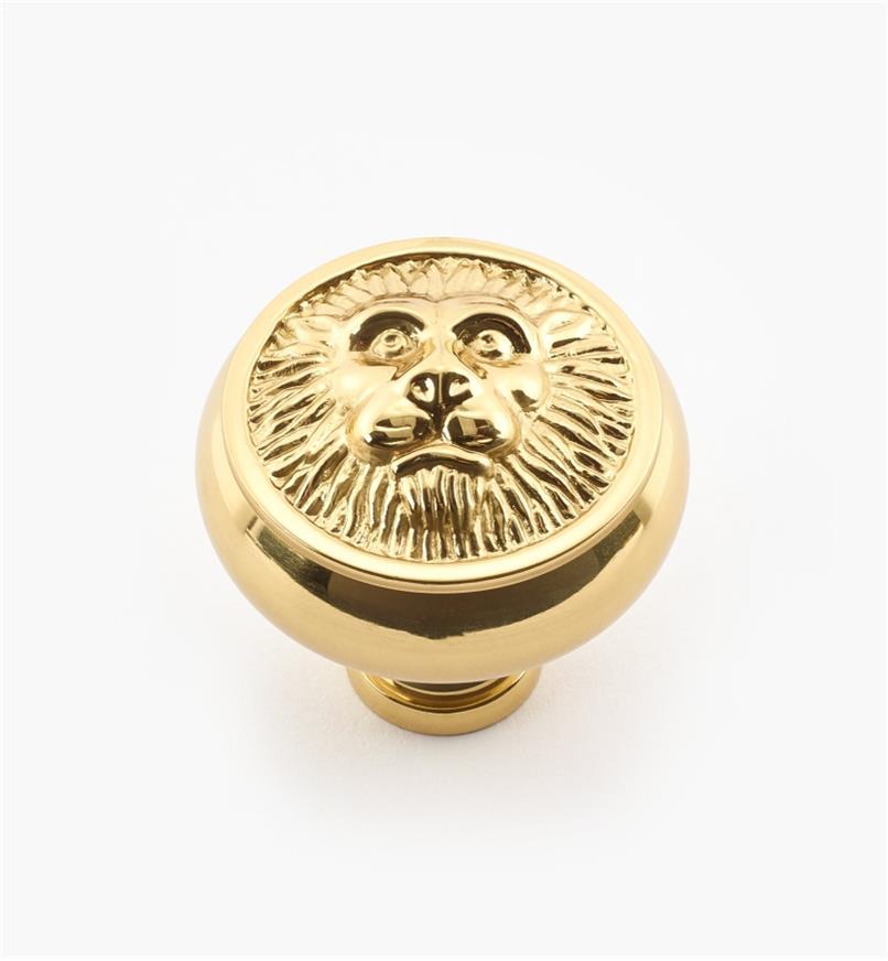 """02W2182 - 1 1/2"""" x 1 1/2"""" Polished Brass Knob"""
