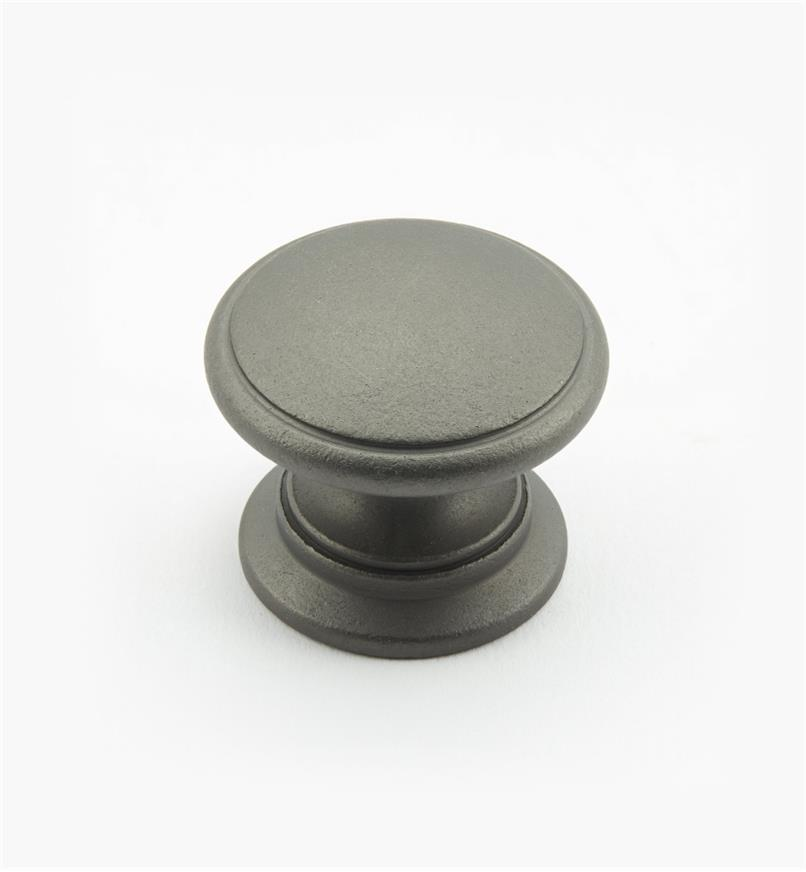 02W2602 - Bouton rond de 1 1/4 po x 1 po, série Étain, laiton