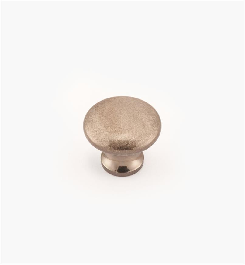 "02W2729 - Antique Nickel Suite - 3/4"" x 5/8"" Round Brass Knob"