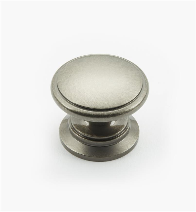 "02W3042 - Antique Nickel Suite - 1 1/4"" x 1"" Round Brass Knob"