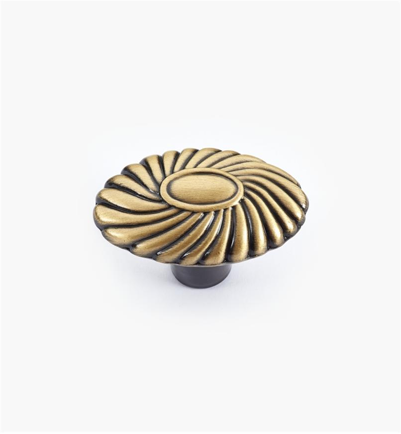 02W3443 - Orchid Brushed Antique Brass Knob