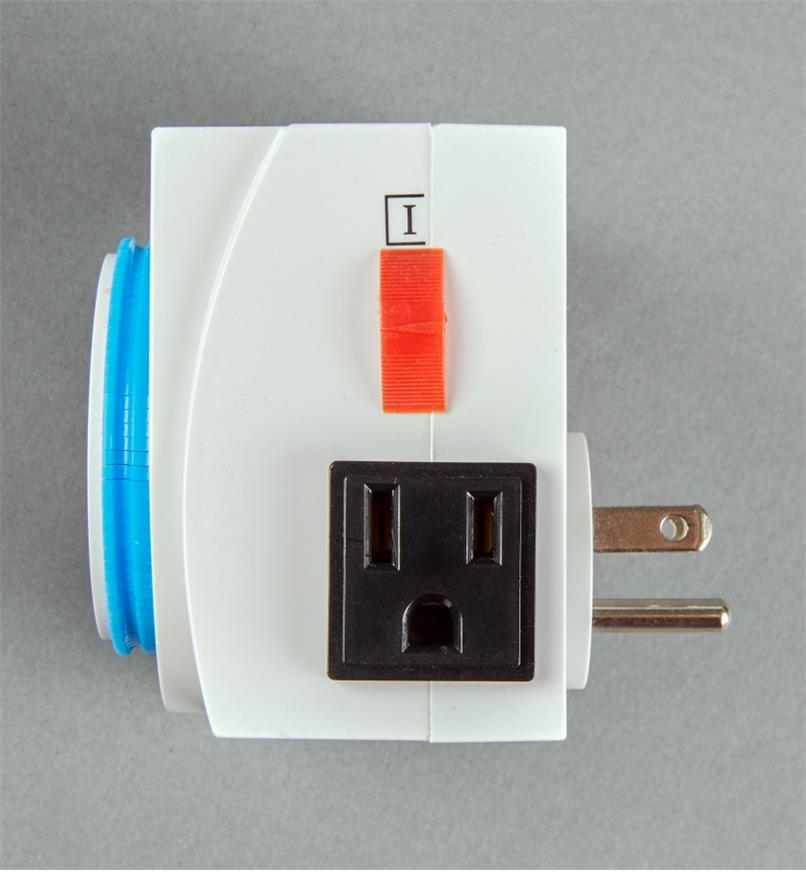 Side view of the Double-Outlet Timer