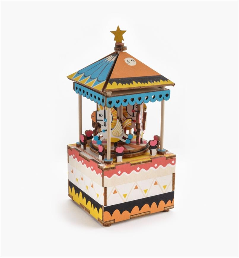 Assembled Carousel Music Box