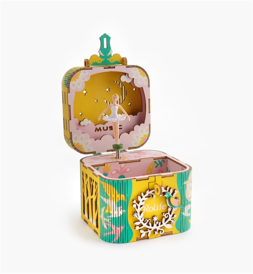 Assembled Ballerina Music Box, open