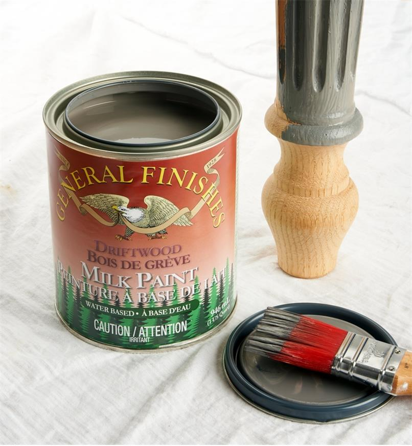 56Z1723 - Driftwood General Milk Paint, 1 qt.