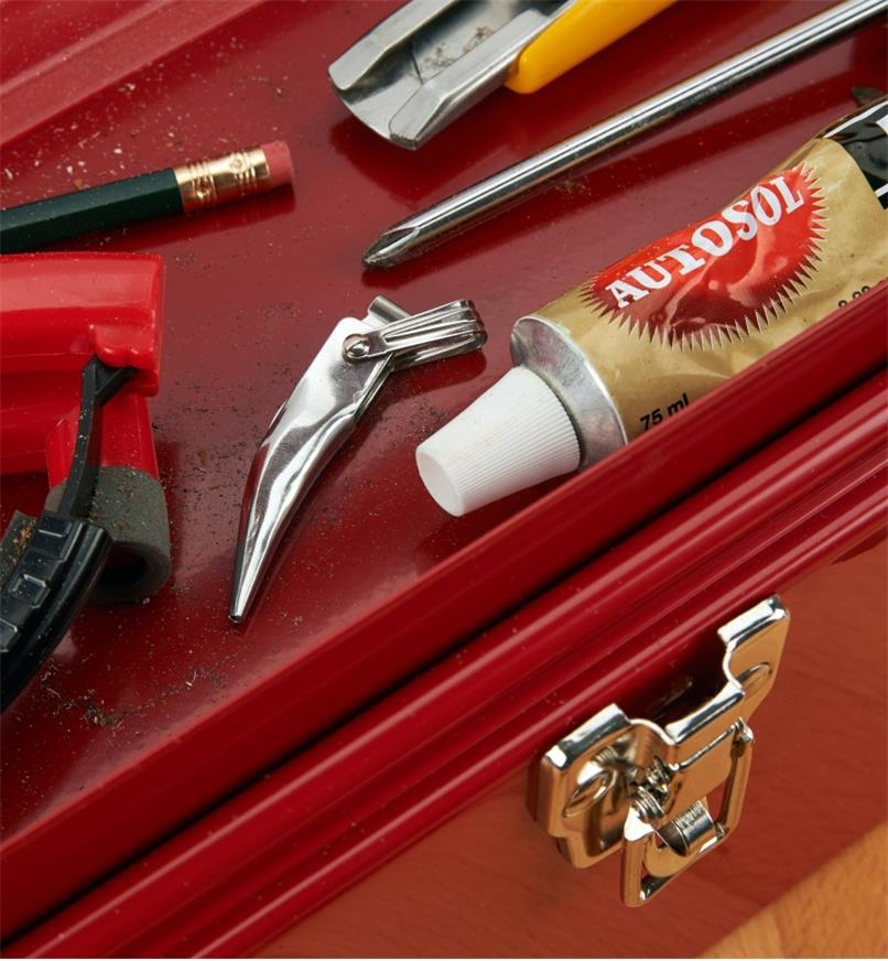 Fold-Out Tweezers stored in a toolbox