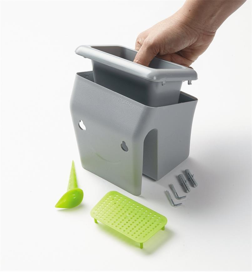 XB771 - Gray Multi-Mount Mini Planter