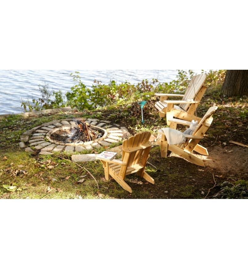 05L3201 - Set(3) Small Chair Plans, Adirondack