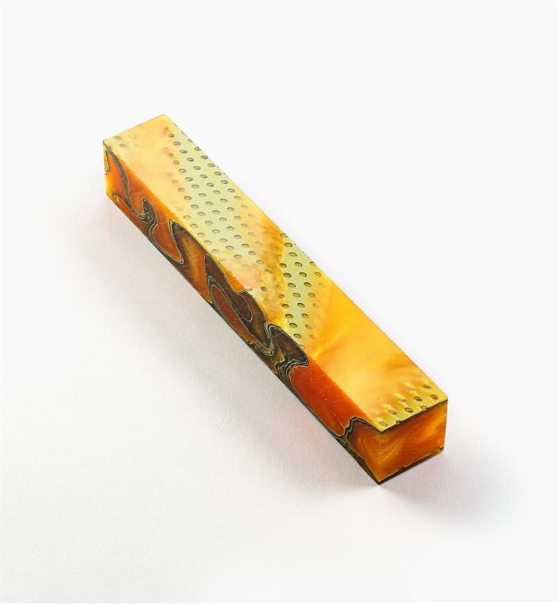 88K7960 - Acrylic Acetate Pen Blank, Tangerine Mesh