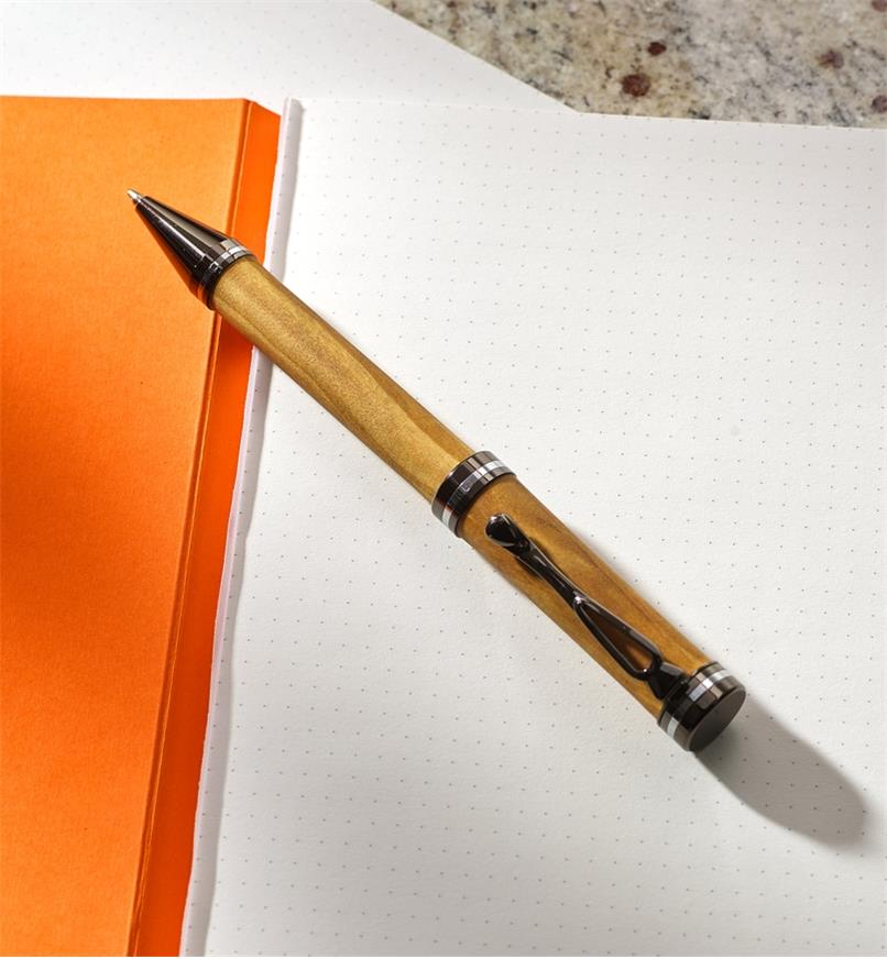 Example of an Atracia pen turned from a wood blank