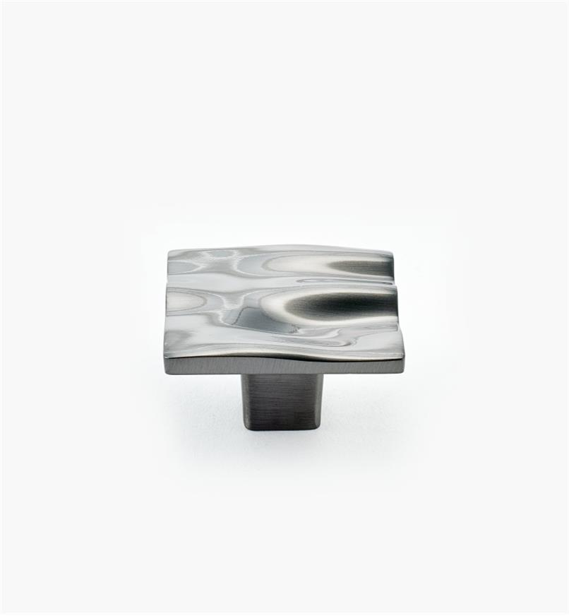 01G1422 - Black Nickel Square Waves Knob