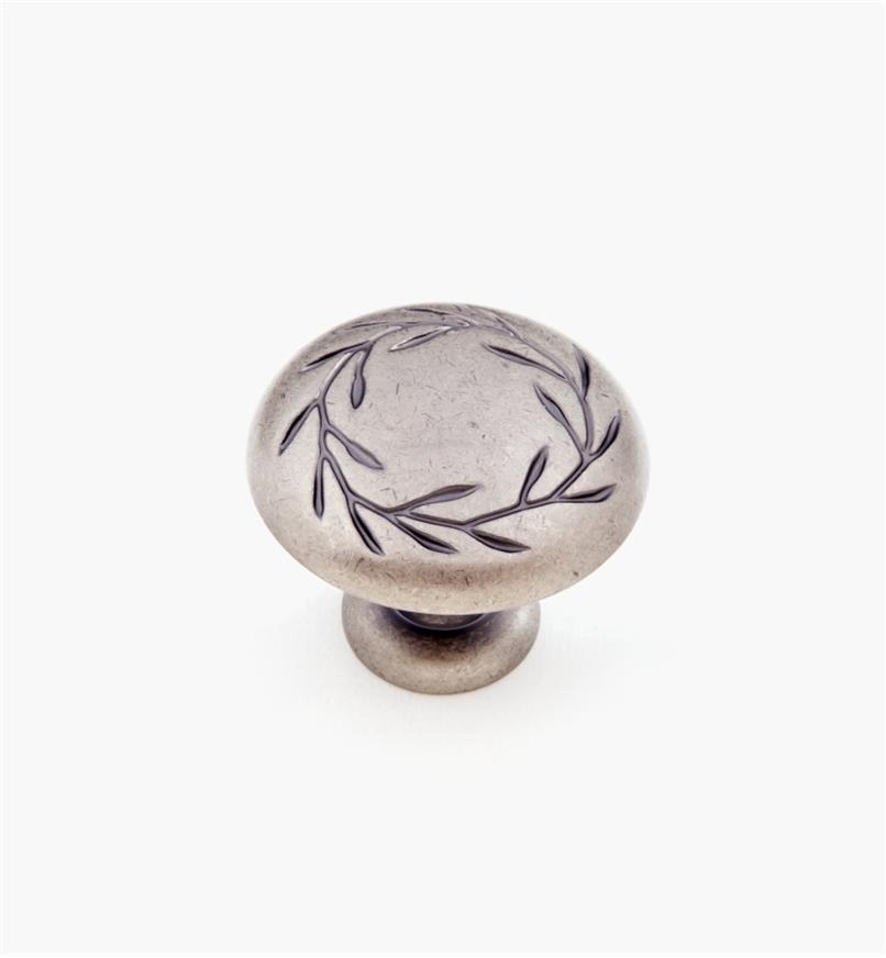 "02A1060 - 1 3/4"" Weathered Nickel Leaf Knob"