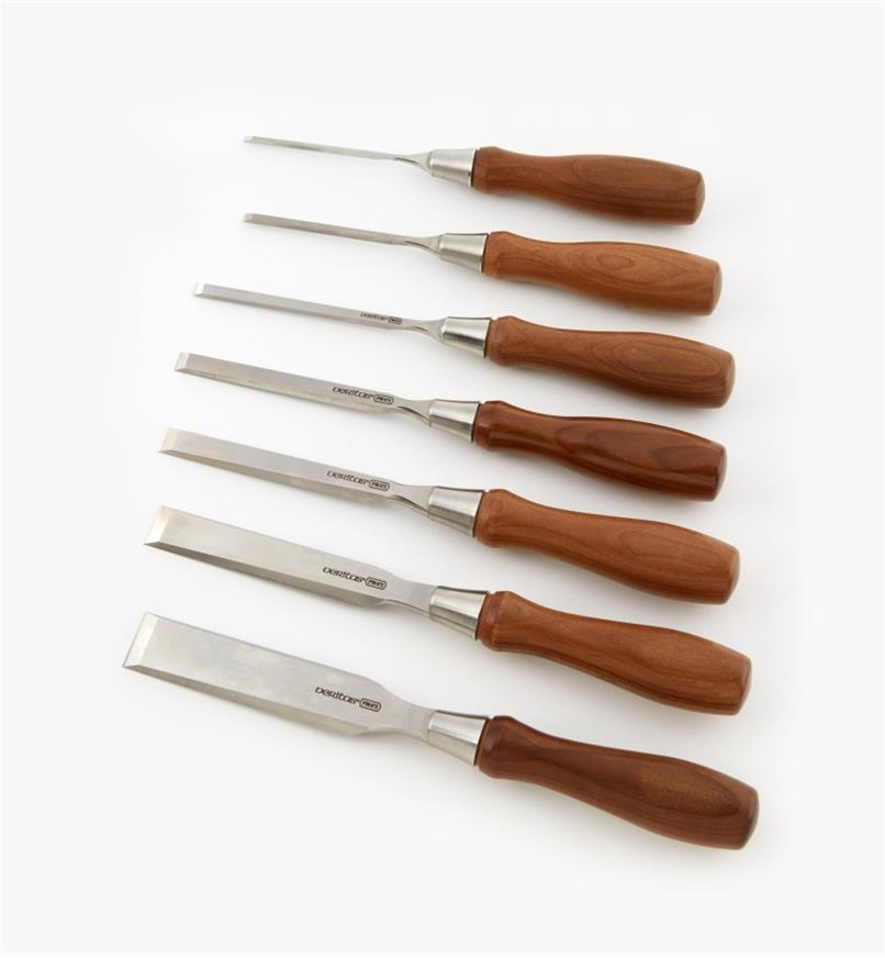 05S2170 - Veritas PM-V11 Bench Chisels, set of 7 (all sizes)