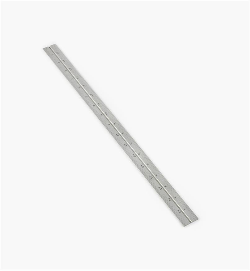 "30N0306 - Starrett 18"" Imperial Regular Rule for 12""/300mm Square, Protractor & Center-Finding Head"