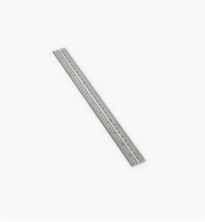 "30N0307 - Starrett 11 3/4""/300mm Imperial/Metric Regular Rule for 12""/300mm Square, Protractor & Center-Finding Heads"