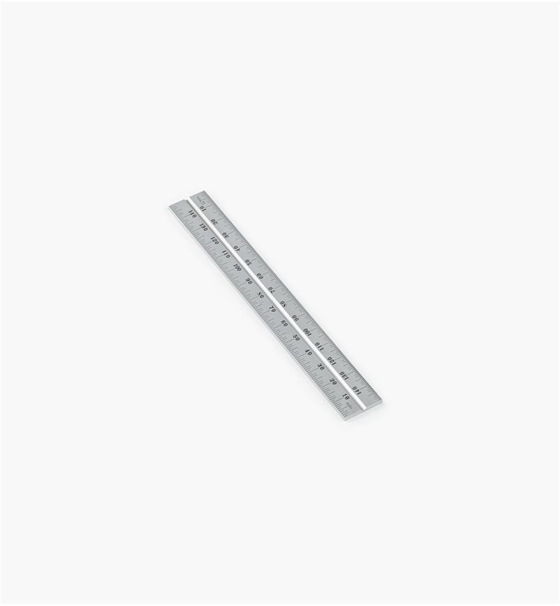 "30N3141 - Starrett; 150mm Metric Chrome Rule for 6""/150mm Square Heads"