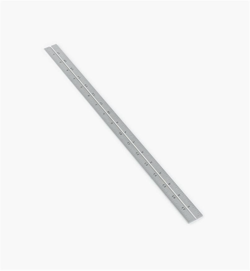 "30N3143 - Starrett 18"" Imperial Chrome Rule for 11""/300mm Square, Protractor & Center-Finding Heads"