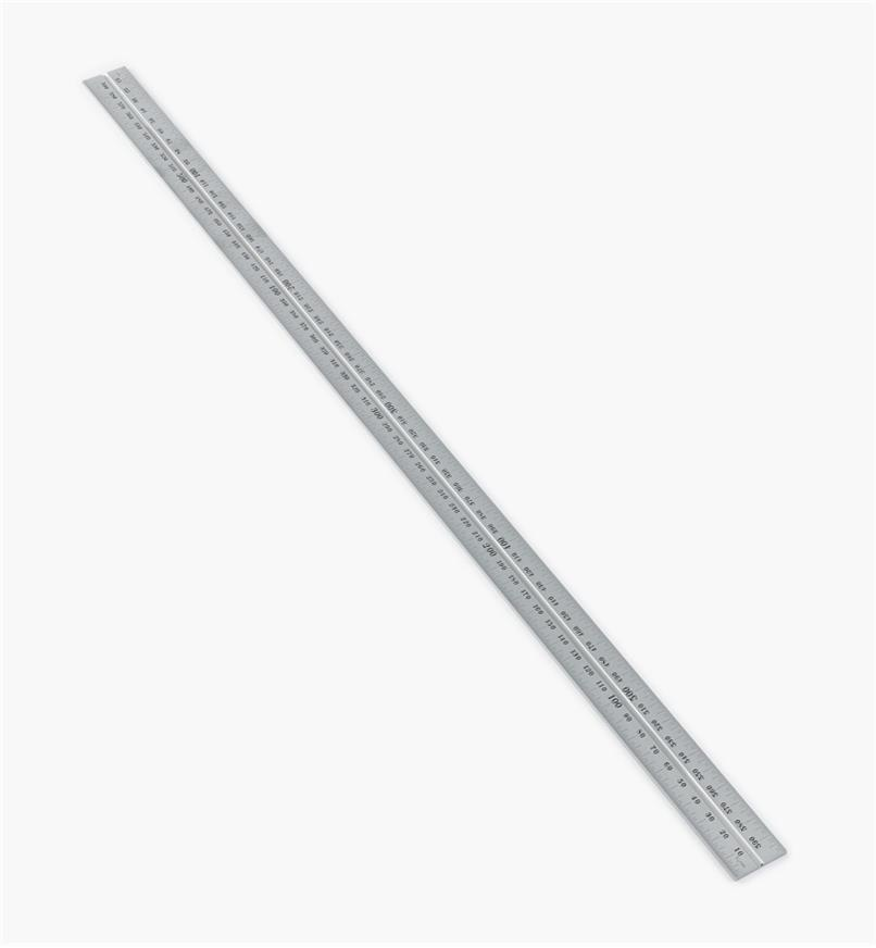 "30N3146 - Starrett 600mm Metric Chrome Rule for 12""/300mm Square, Protractor & Center-Finding Heads"