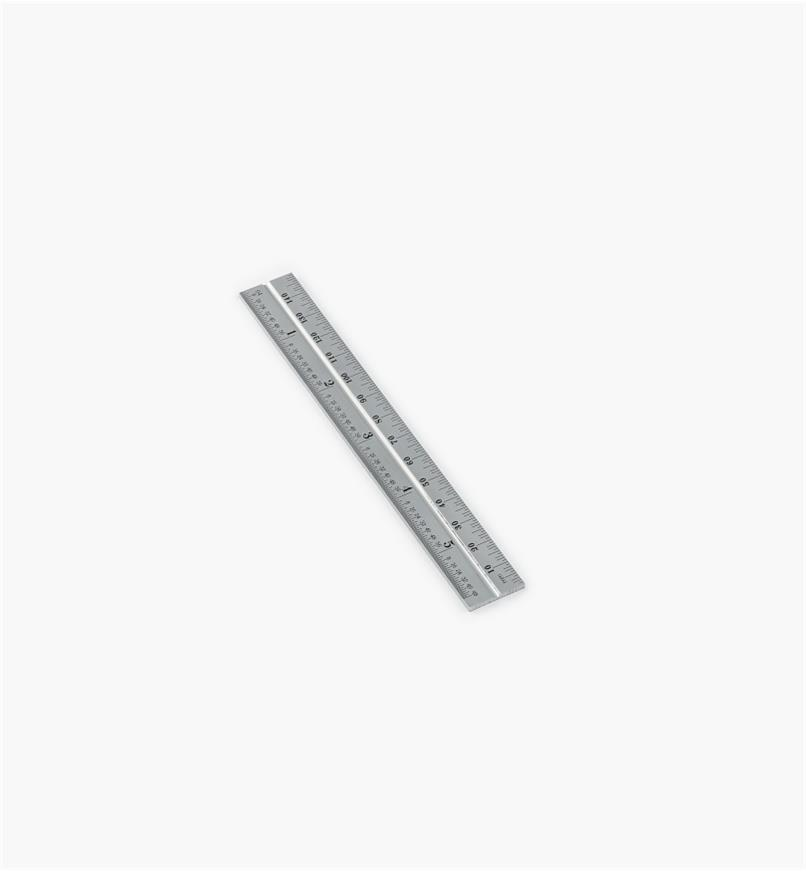 "30N3149 - Starrett 5 3/4""/150mm Imp./Metric Chrome Rule for 6""/150mm Square Heads"