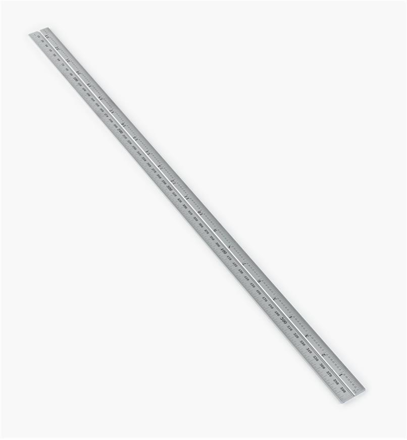 "30N3152 - Starrett 23 1/2""/600mm Imperial/Metric Chrome Rule for 12""/300mm Square, Protractor & Center-Finding Heads"
