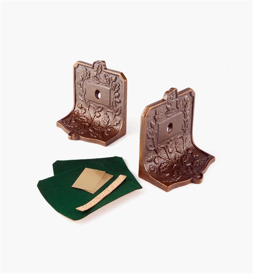 50K2101 - Appuis-livres avec plaques vierges, lapaire