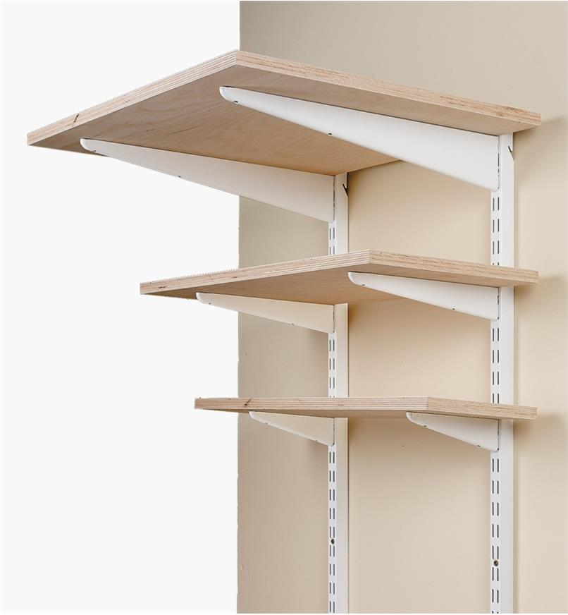 Wall Standard for Heavy-Duty Powder-Coat Steel Shelving System