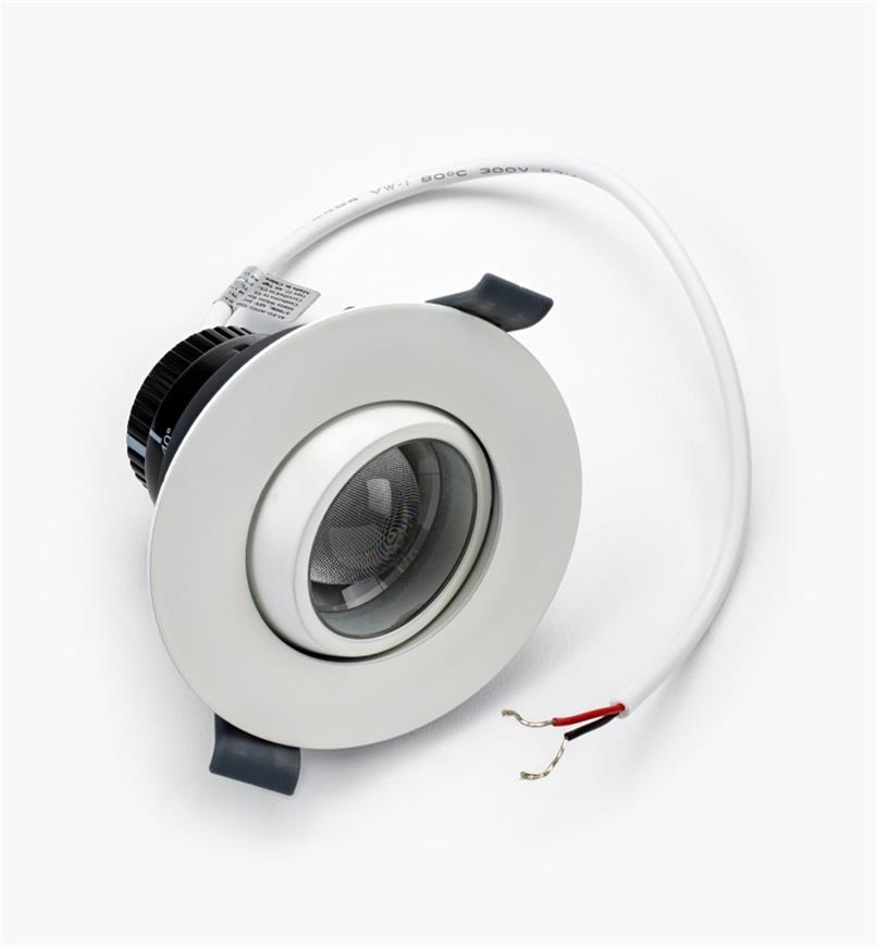 00U4442 - Luminaire à DEL à faisceau réglable, blanc chaud, l'unité