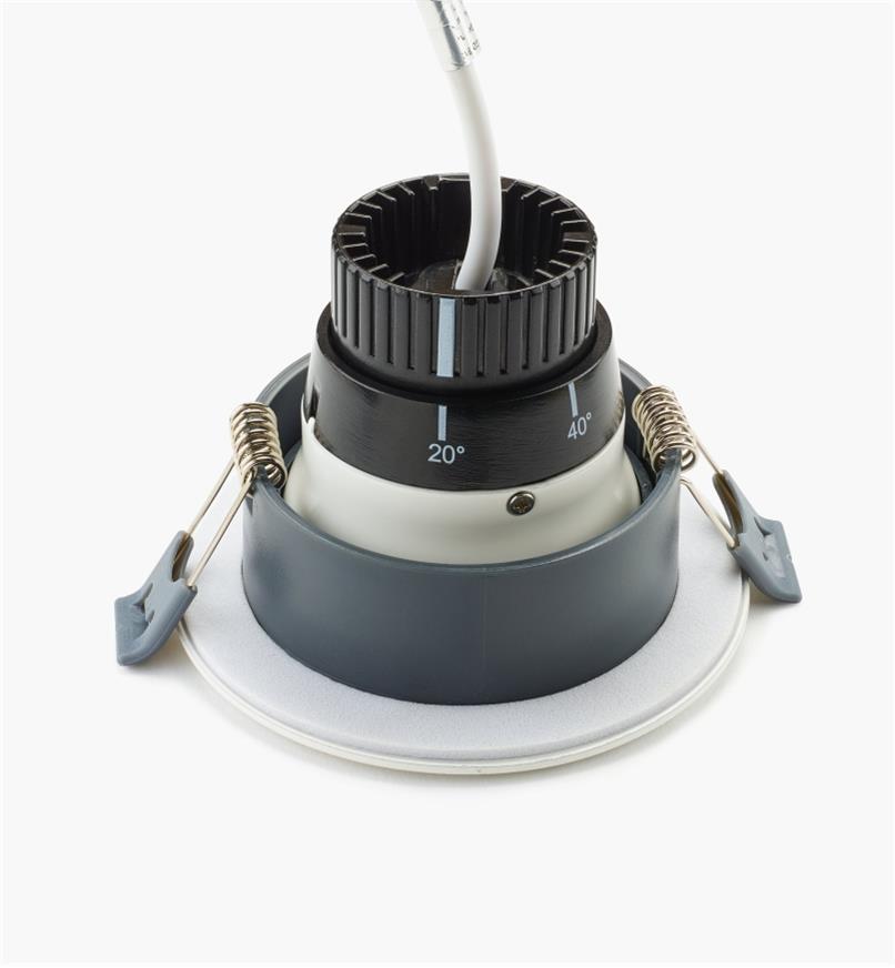 00U4443 - Luminaire à DEL à faisceau réglable, blanc naturel, l'unité