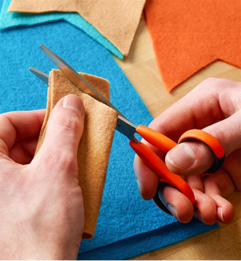 Cutting felt with Precision Safety Scissors