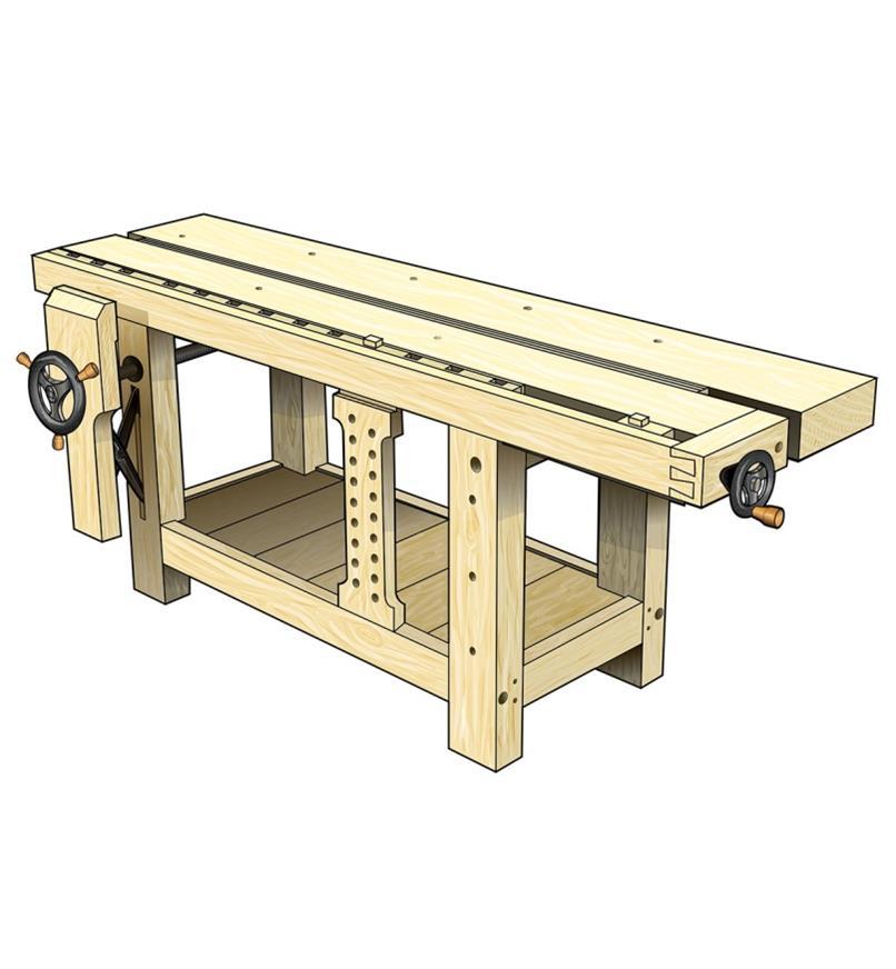 Plans pour établi de style Roubo et composants pour presses Benchcrafted