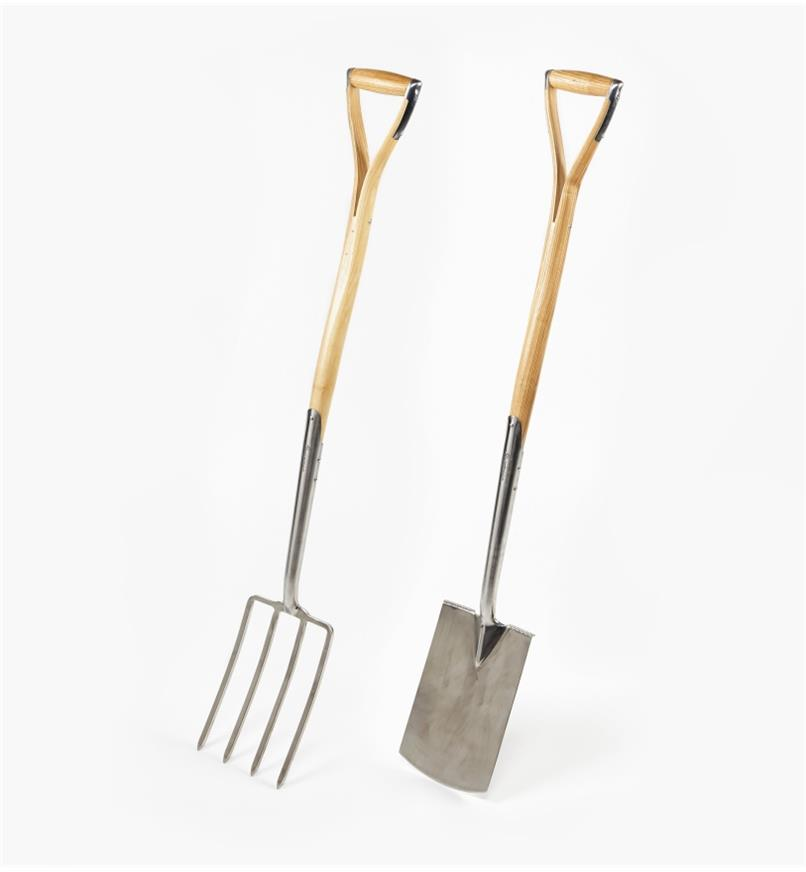 PG262 - Ergonomic Ash-Handled Digging Spade & Fork Set