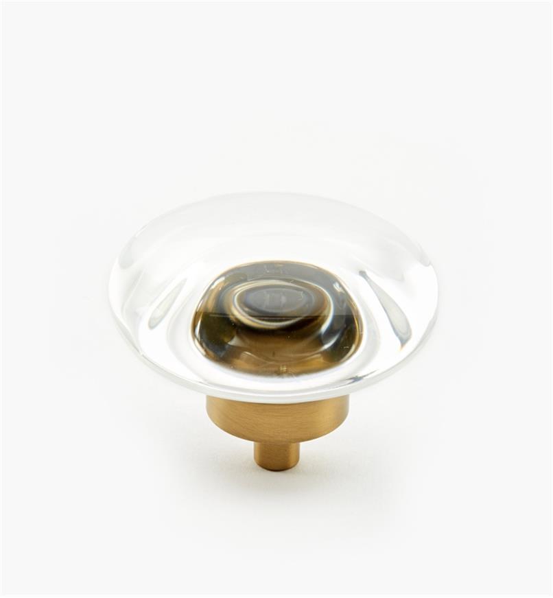"""02A0545 - Glacio Golden Champagne 1 3/4"""" x 1"""" Round Knob, each"""