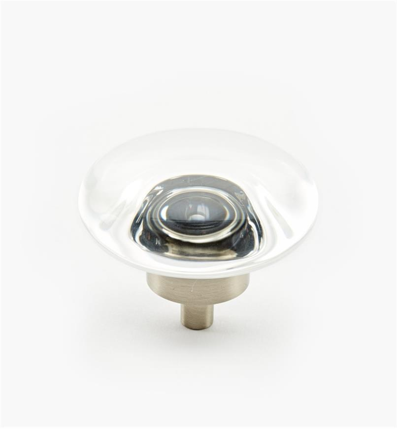 "02A0551 - Glacio Satin Nickel 1 3/4"" x 1"" Round Knob, each"