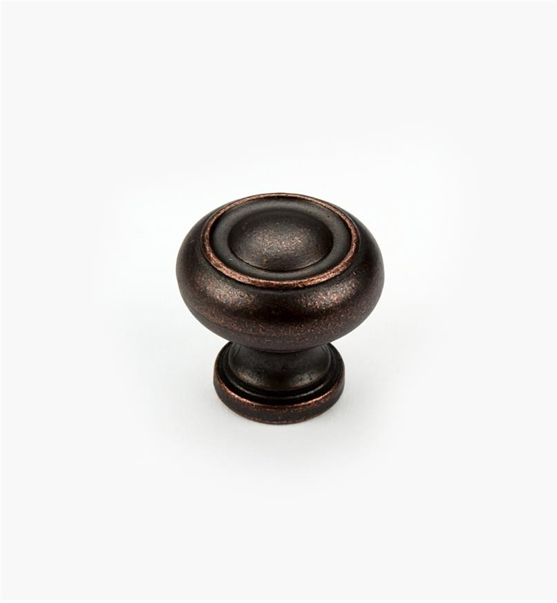 "03W2832 - 1 1/4"" Dark Bronze Knob, Ring"