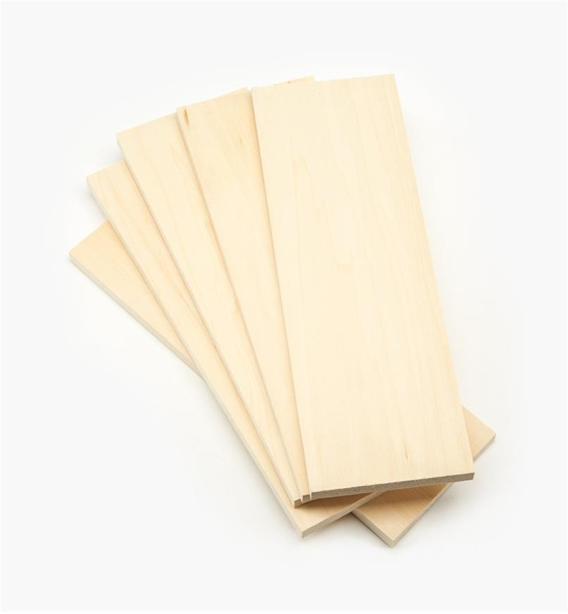 "55K5353 - 1/2"" x 4"" x 12"" Basswood Boards, pkg. of 5"