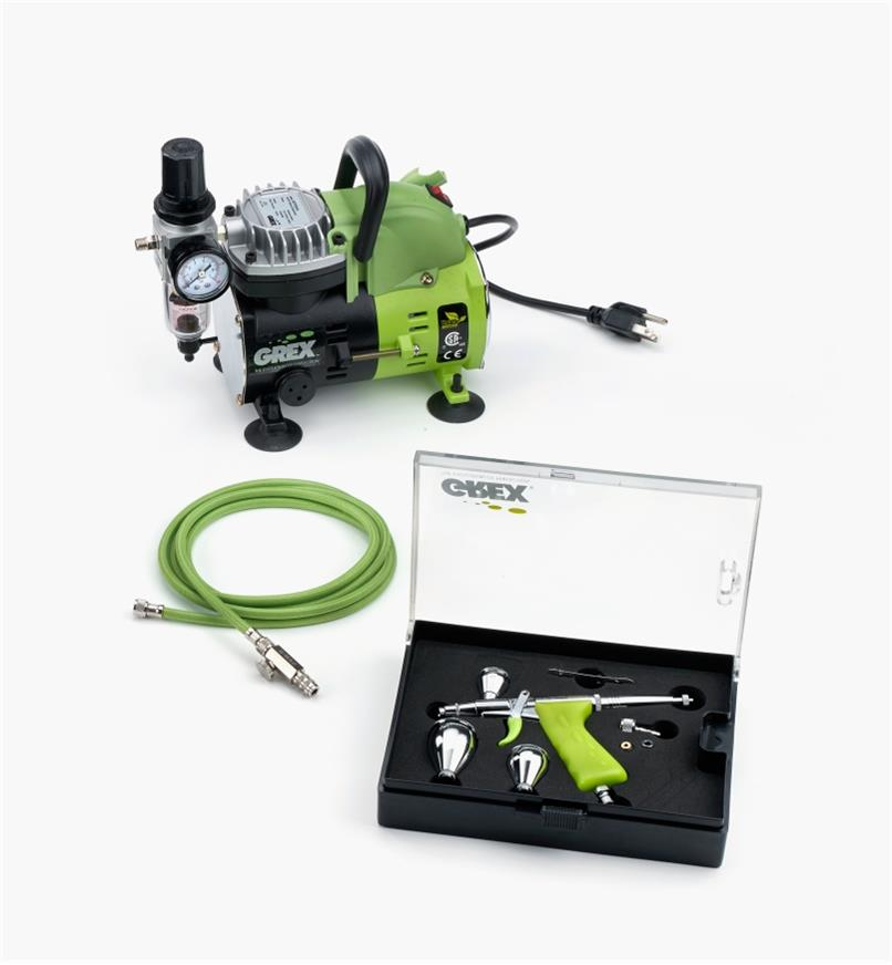 86N5552 - Grex Airbrush Kit, Top-Mount Cup
