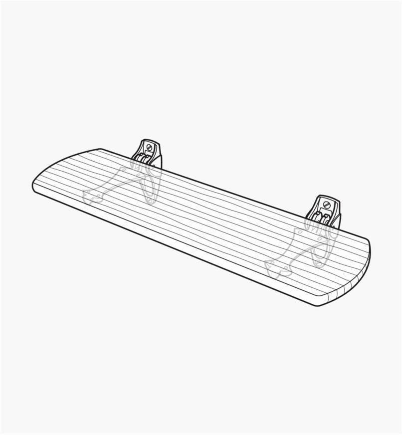 Schéma d'un banc fabriqué à l'aide de deux supports muraux pour siège d'entrée