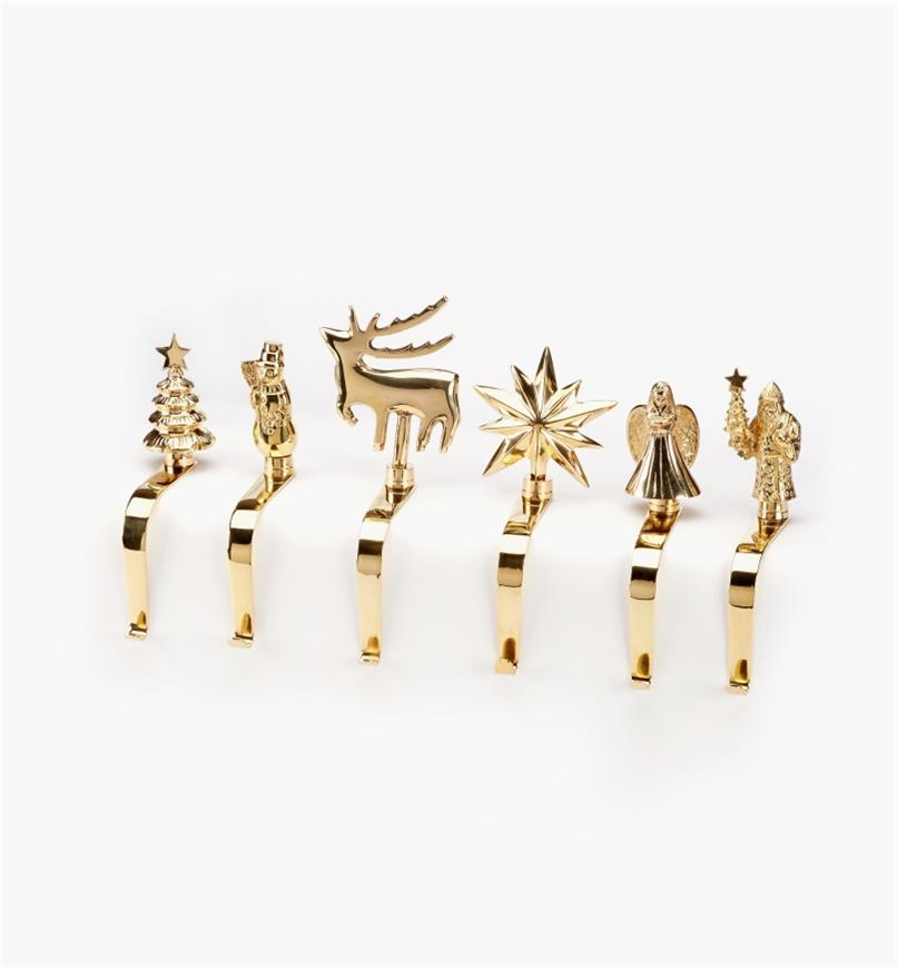 45K1946 - Set of 6 Brass Hangers