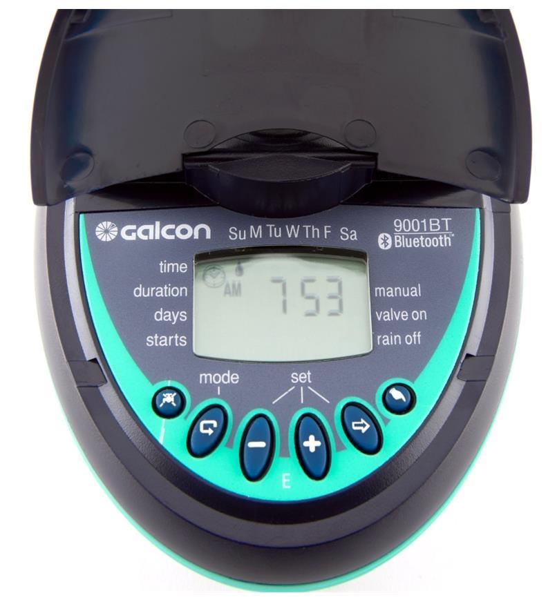 Close-up of Digital Water Timer display