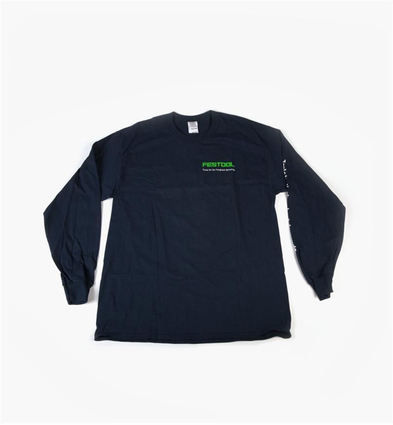 Front of shirt with Festool logo on upper left side