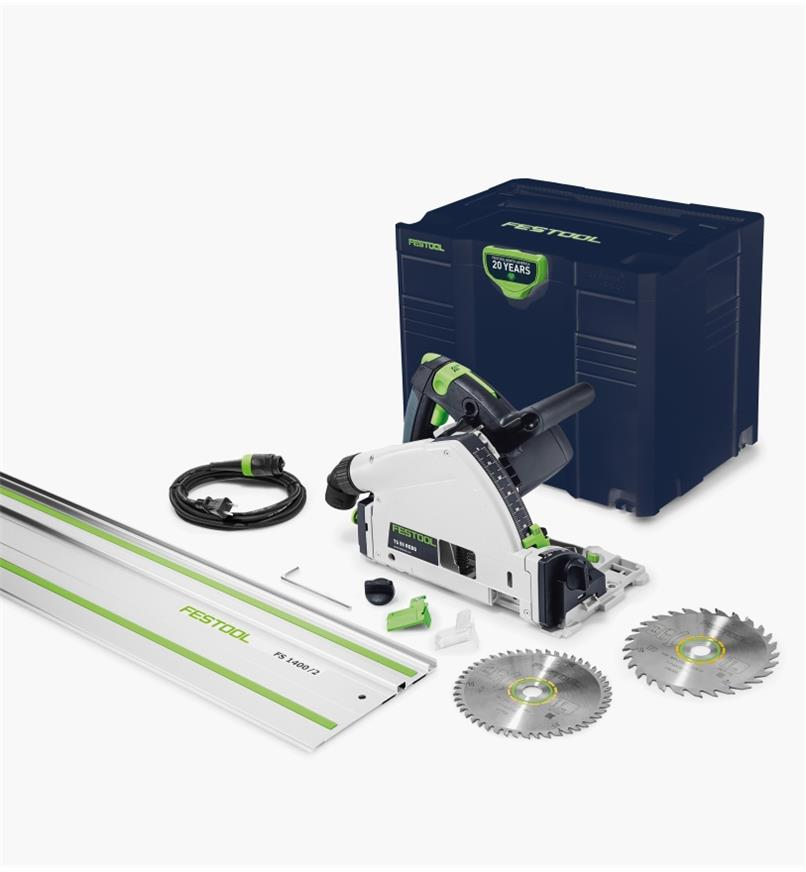 "ZT576688 - Festool Emerald Edition TS 55 REQ track Saw with a 55"""" Guide Rail"