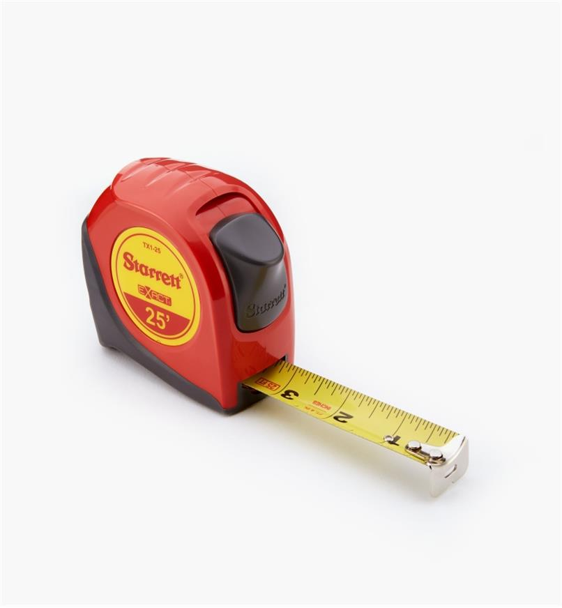 "99W1050 - Starrett Exact 1"" × 25' Tape Measure"