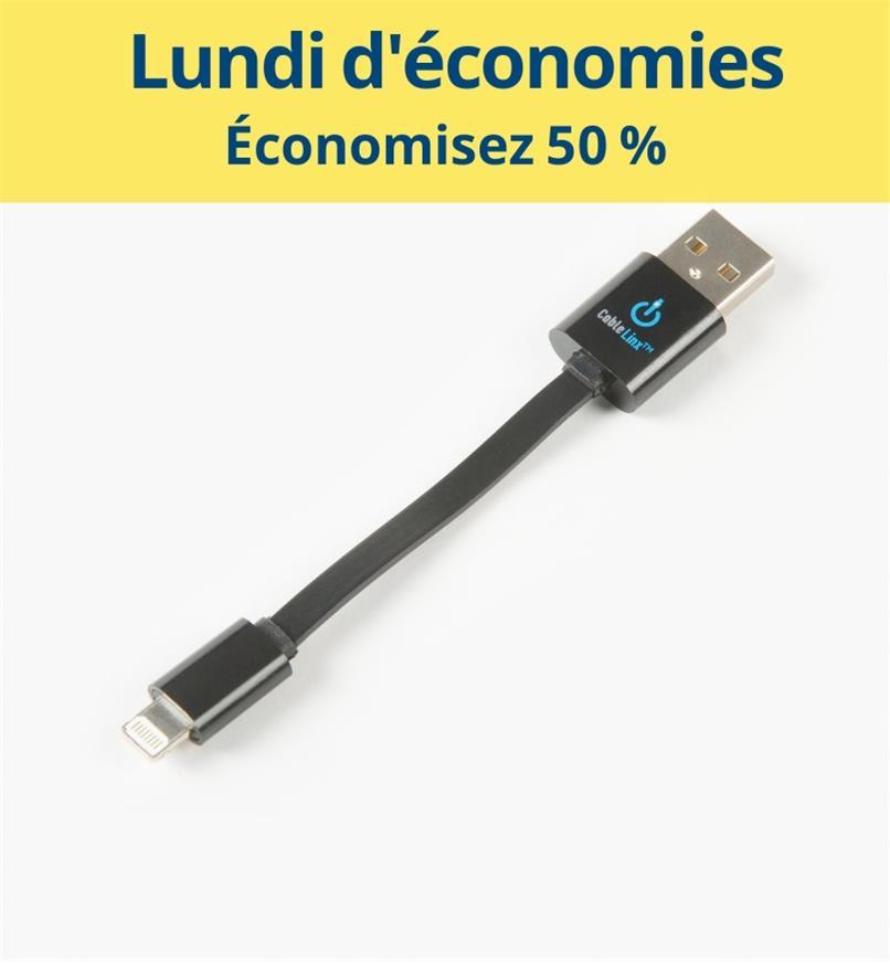 CM1078 - Câble certifié MFi USB vers Lightning
