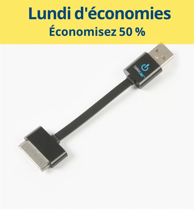 CM1079 - Câble certifié MFi USB vers 30 broches