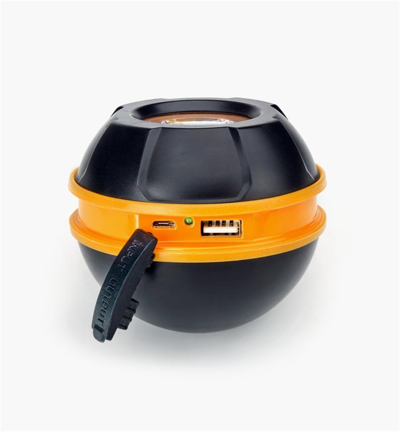 25K4115 - Lampe-sphère magnétique robuste rechargeable à DEL