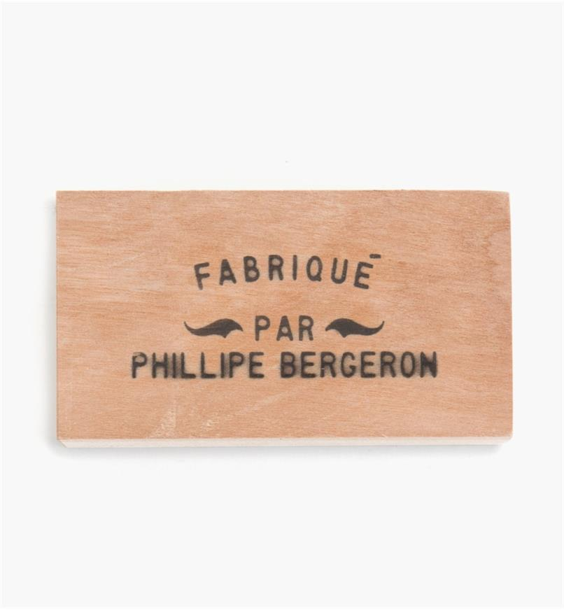 Example of brand made by FABRIQUÉ PAR arc non-electric branding iron